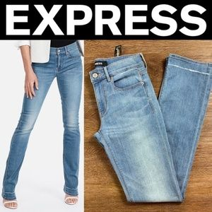 NEW EXPRESS PETITE MID RISE STRETCH BARELY BOOT
